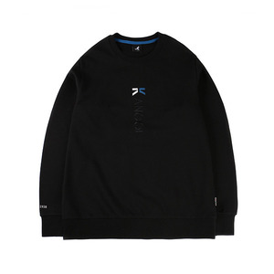 버티컬 볼드 로고 티셔츠 1535 블랙
