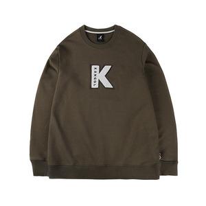 이니셜 로고 티셔츠 1541 카키